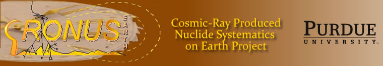 CRONUS Cosmic-Ray Produced Nuclide Systematics on Earth Project