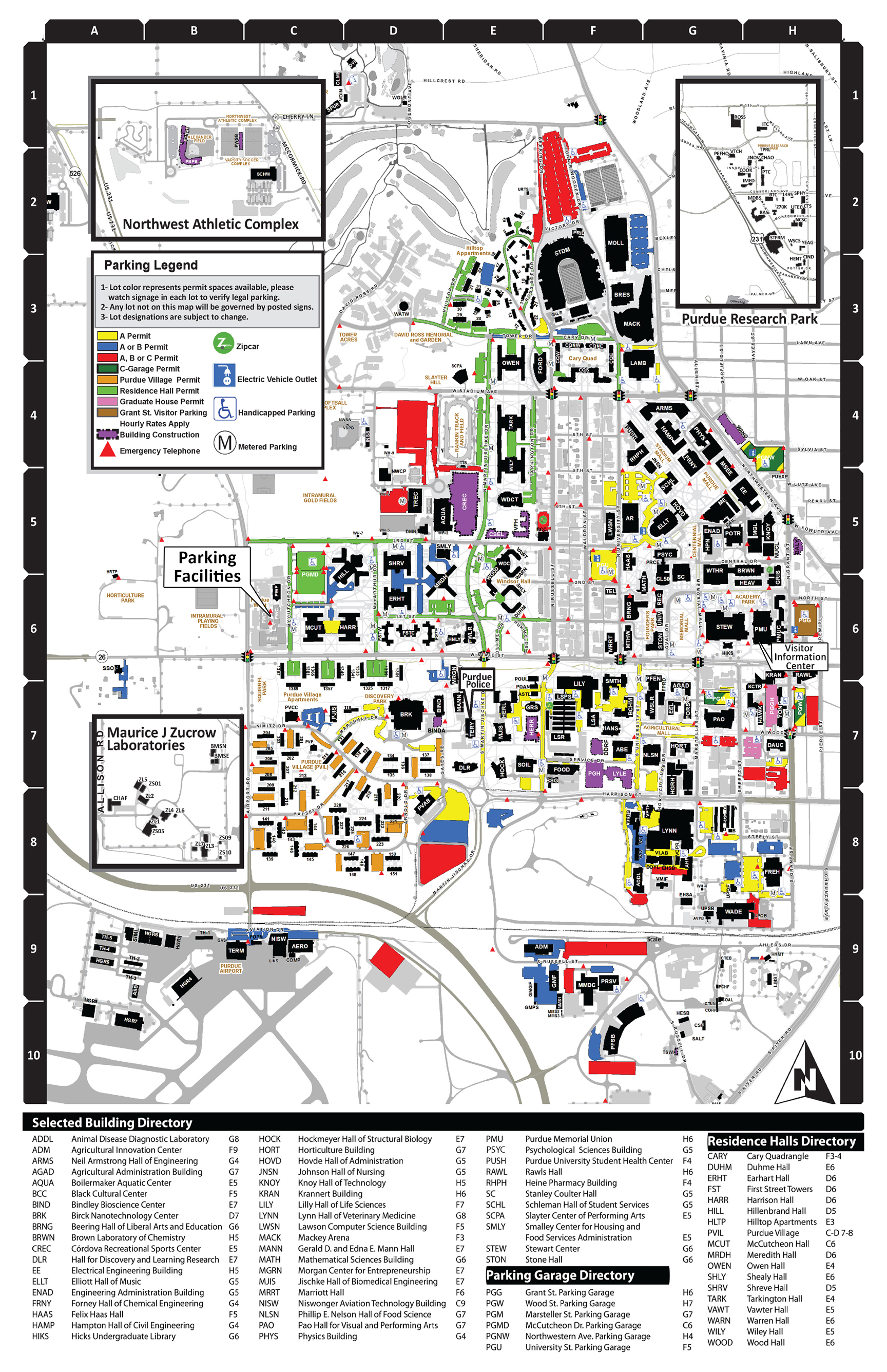 Purdue University Campus Map PRIME Lab at Purdue University, West Lafayette, Indiana